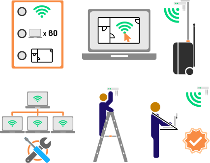 WiFi Deployment Project Plan Icons